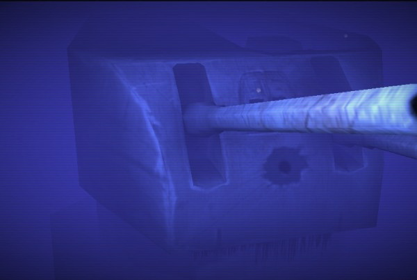 HMAS Sydney II partial reconstruction in underwater ROV interactive